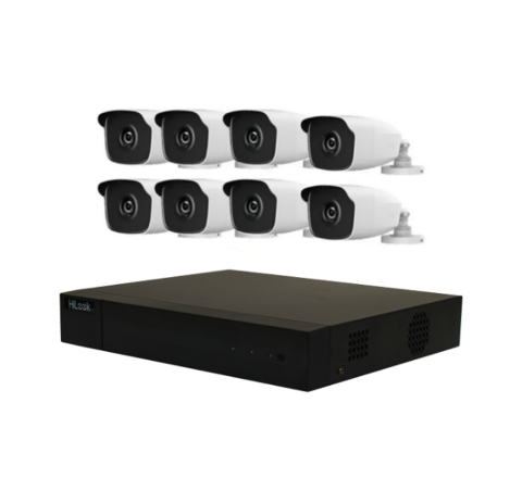 8 Camera HiLook by Hikvision Combo Kit: DVR & 8 x 4MP IR Cameras [1-2924]