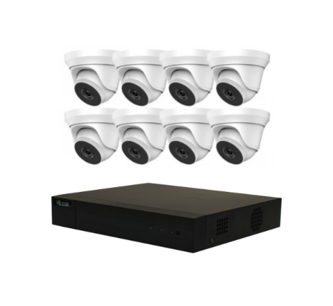 Hikvision HiLook HD COMBO Kit: DVR & 8 x Dome Cameras [3050-2]