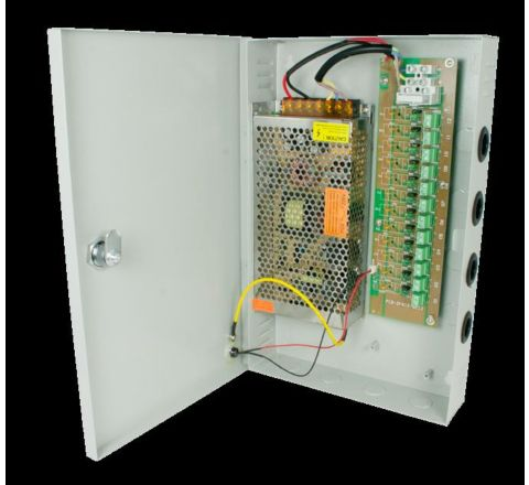18 Ports-20amp Power Supply Unit Wall Mount [2909]