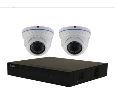 2 Camera Combo Kit: Hikvision Hilook DVR & x2 Domes 2MP 3.6mm [3054-2]