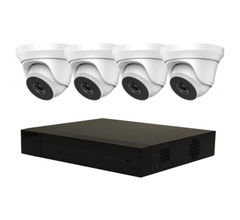 4 Camera HiLook IP COMBO: 4ch NVR, 4 x 5MP IP Dome-3148 4mm Cameras [3154-2]