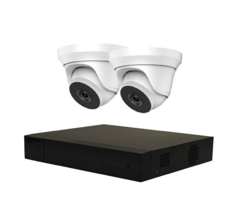 Hikvision HiLook 2 Camera IP POE Combo: NVR & 2 x 2.8mm 5MP Domes [3158-2]