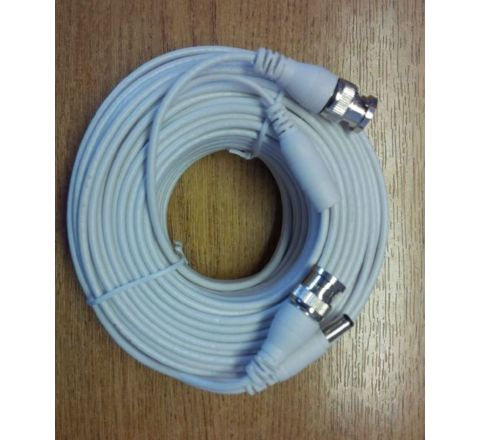 Cable BNC HD 25m BNC-BNC and DC White [3272]