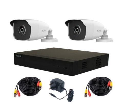 Hikvision 2 Camera HiLook Kit: DVR, 2 x 4MP IR Cameras, 10m Cables & PSU [3776]