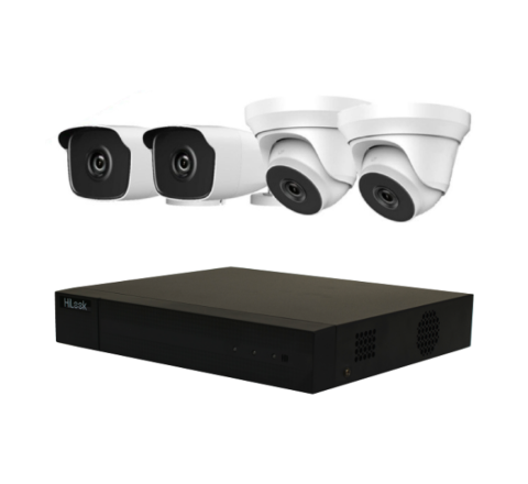 4 Camera HiLook by Hikvision Kit: 2 x Dome, 2 x Bullet & DVR [3778]