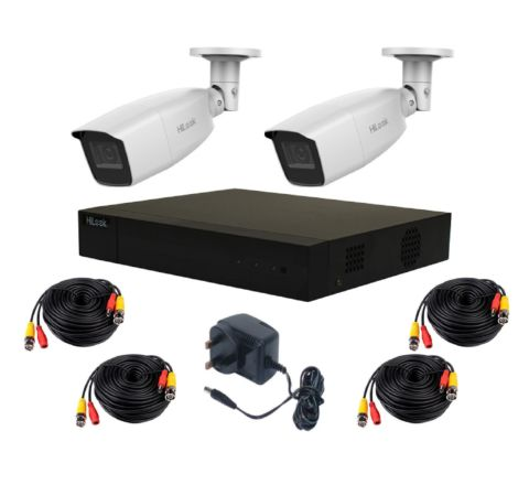 2 Camera HiLook by Hikvision Kit: DVR, 2 x 2.8-12mm IR Camera, 10m Cables & PSU [3788]