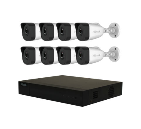 HiLook by Hikvision IP Pack, NVR-H265+ 3759, 4 x HiLook 4MP Bullet 3693 [3773]