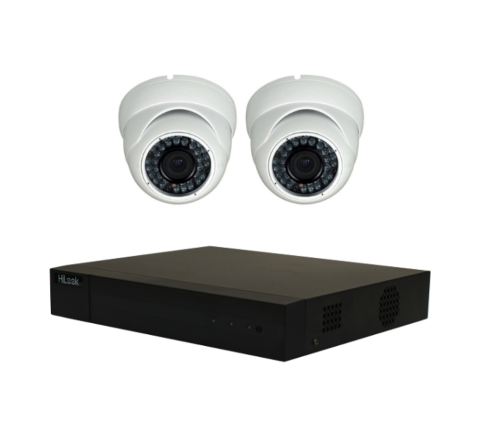 Camera Combo: Hikvision HiLook DVR & TWO Sony Starvis Domes, 5MP, 3.6mm [2-3056]