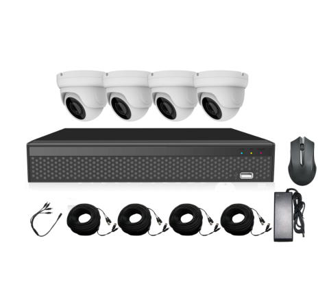 Kit 5MP DVR Cobra5, 4 x 3.6mm 5MP Turret Domes, 4 x 18m Cables & PSU [3124-1]