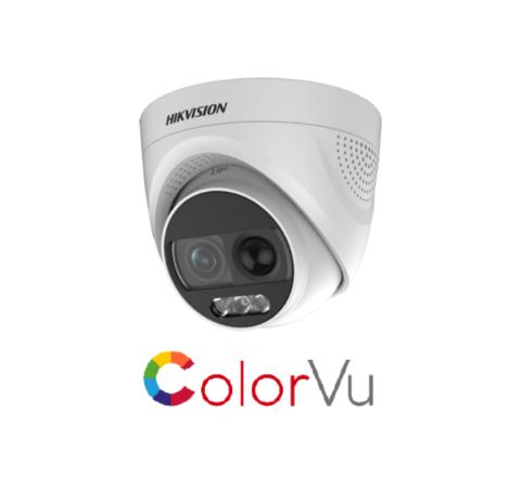 DS-2CE72DFT-PIRXOF Hikvision 2.8mm 2MP ColorVu PIR Siren Fixed Turret Camera [3984]