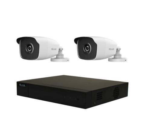 Hikvision 2 Camera HiLook Combo: DVR, 2 x 5MP IR Cameras [3197-2]
