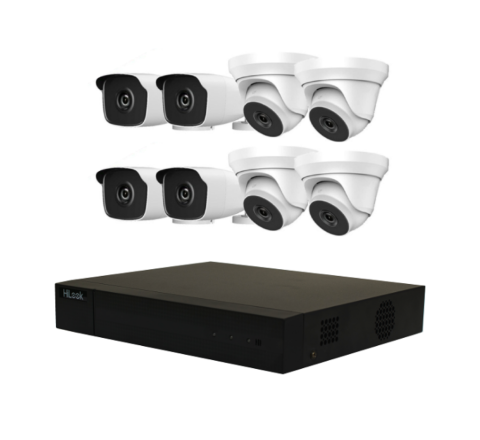 8 Cameras & 8ch DVR HiLook by Hikvision Kit: 4 x Dome, 4 x Bullet & DVR [3121-2]