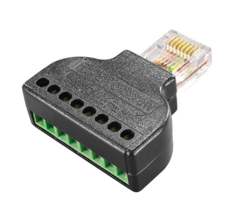 RJ45 to 8 Screw Terminal Block Connector