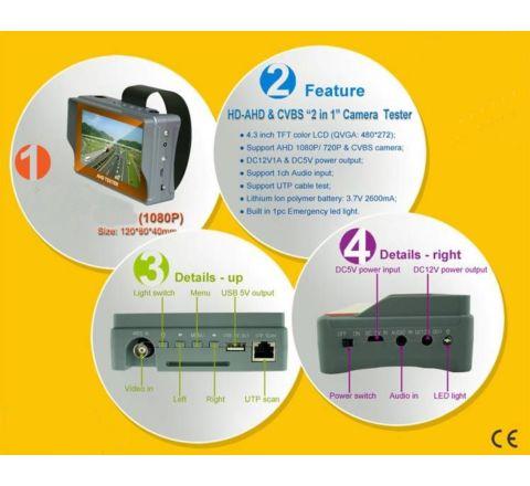 Test Monitor- AHD 1080p/CVBS Analog